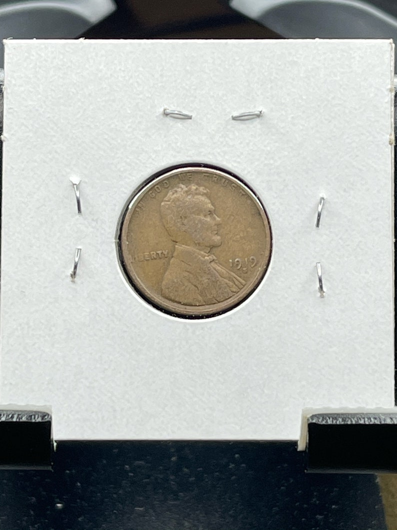 Collectable Coin Lincoln Penny 1919 S Wheat Penny United States Coin Bronze Coin U.S Vintage Coin VG 8 Coin