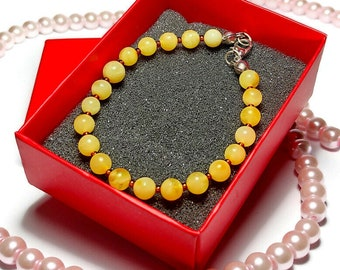Unisex 86 Pain Relief Large Rare Natural Raw WhiteYellow Amber Beaded Bracelet 11.7 mm Genuine Baltic Amber Stretch Bracelet Healing