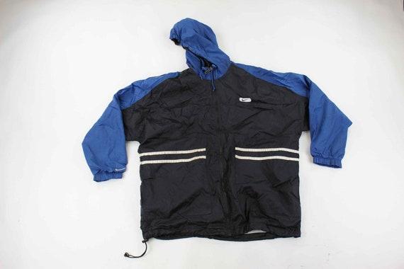 Nike Logo Patch Black, White & Blue Jacket - image 1