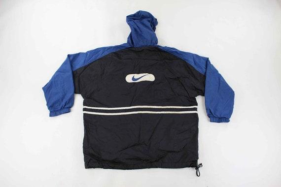 Nike Logo Patch Black, White & Blue Jacket - image 2