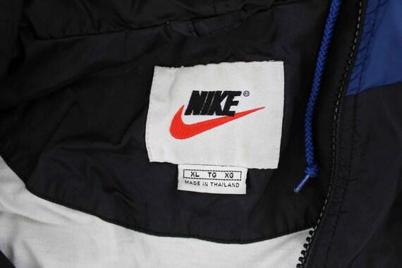 Nike Logo Patch Black, White & Blue Jacket - image 3