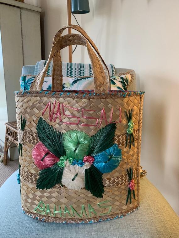 Vintage Straw Basket Bag