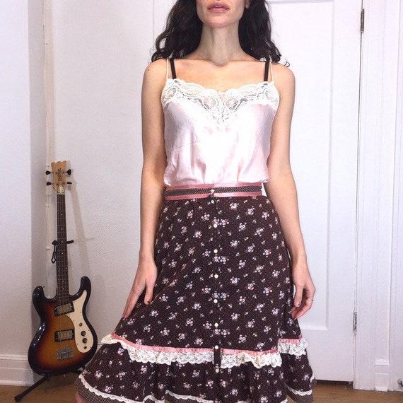 Brown Gunne Sax Prairie Skirt