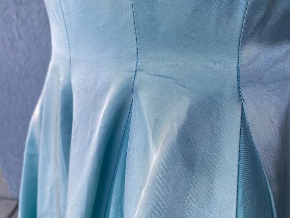 Amazing Vintage 50s Blue Party Prom dress S - image 5