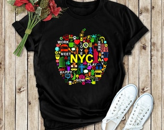 248 8 New York City Big Apple Shirt NYC Vintage Soft Thin Medium Large 80s VTG Screen Stars tshirt t-shirt shirt hoodie sweatshirt sweater