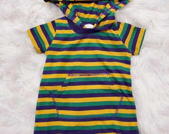 Mardi Gras Peace Love Beads Onesies Romper as picture6 Months