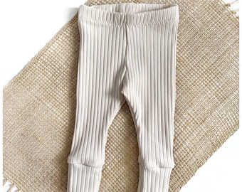 Leggings for baby and toddlers from rib jersey from size 50