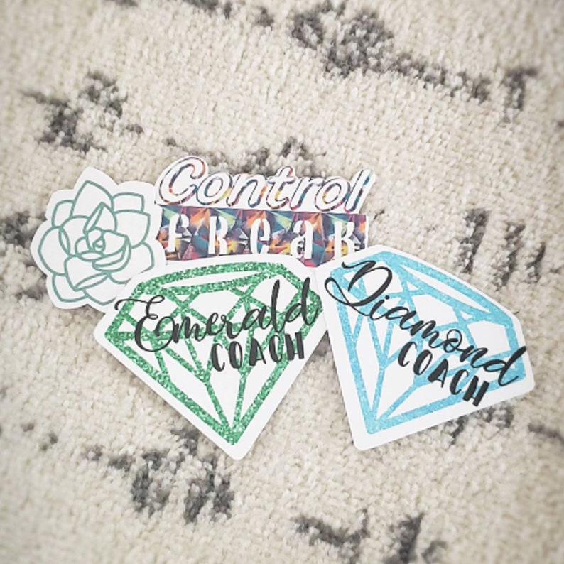 Let/'s Get Up Control Freak Rise and Energize Diamond Coach Ruby Coach Beachbody Stickers Emerald Coach
