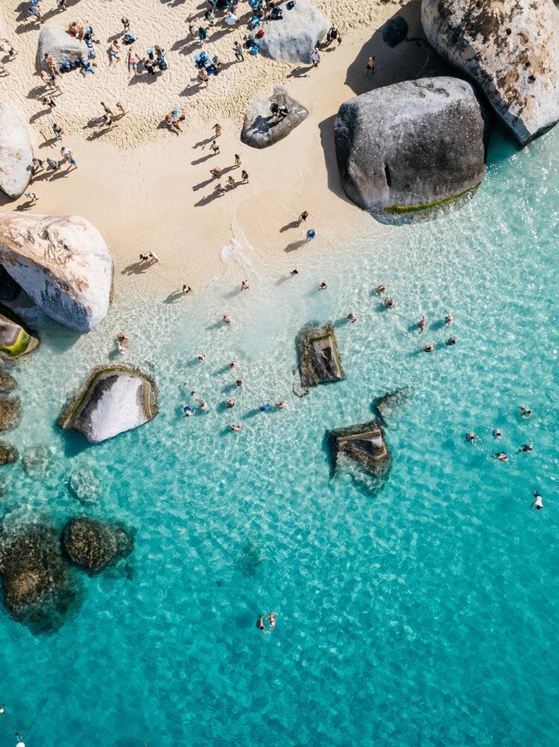 Virgin Gorda Caribbean Minimal Beach Photo Print