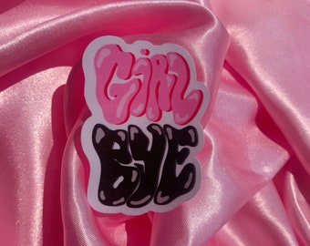 Girl Bye graffiti sticker | High-Quality Waterproof and Scratch-Resistant Stickers