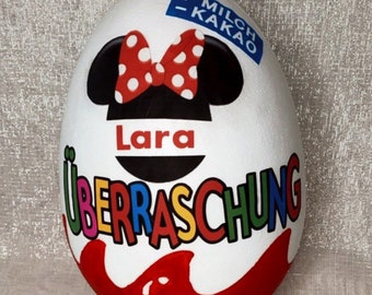 Personalized Ü Egg 16,20 and 30 cm Surprise Egg