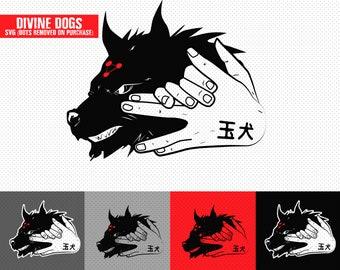 Divine Dogs SVG PNG Jujutsen Kaisen