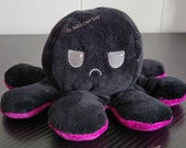 Purple Pink Black Blue Purple Red Yellow Reversible Octopus Perfect Gift for Best friend Girl friend Kawaii Plush TikTok Famous Viral Cute