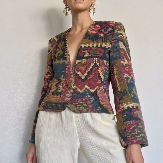 Vintage 90's Abstract Tapestry Jacket