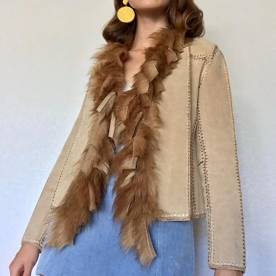 Vintage 100% Genuine Leather Patchwork Jacket