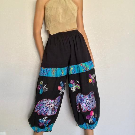 Vintage Patchwork Harem Pants
