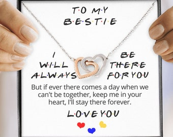 Friends I/'ll Be There For You Quote TV 90s Necklace Pendent Jewellery Gift Bag