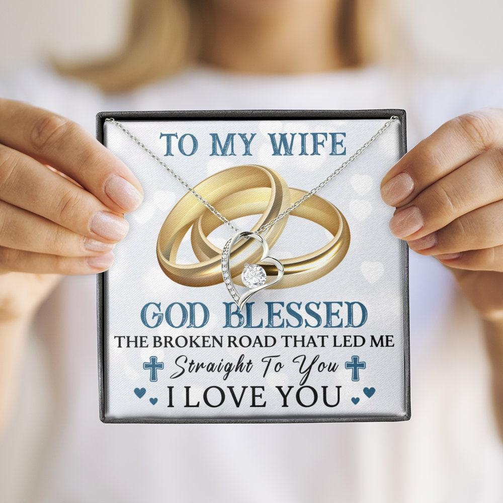 An meine Frau Halskette Mann zu Frau Geschenk für meine   Etsy