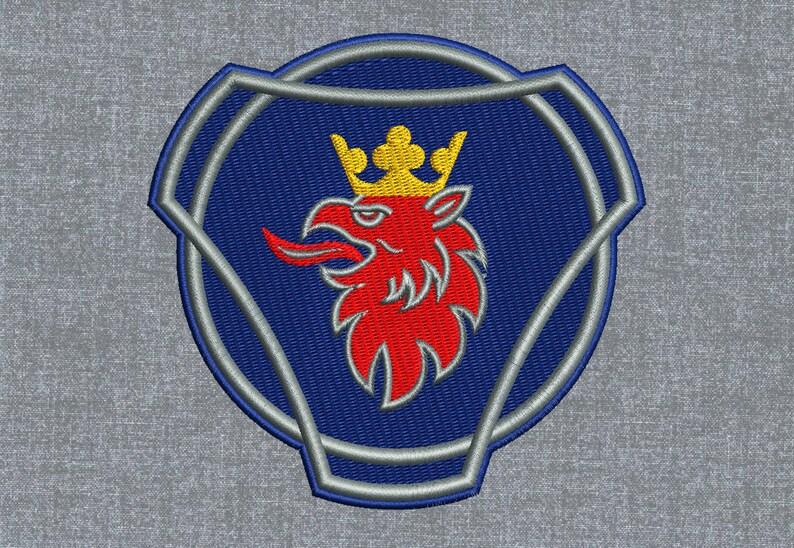 Scania logo Machine embroidery design pattern \u2013 3 sizes
