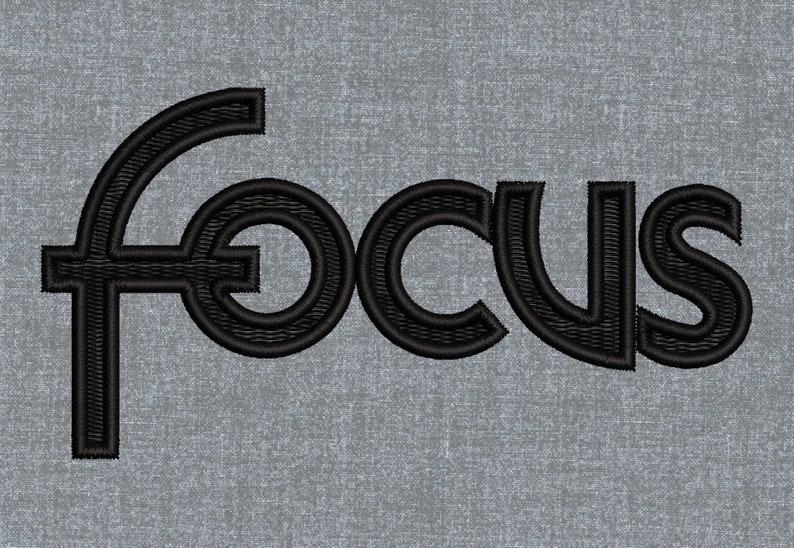 Ford Focus logo Machine embroidery design pattern \u2013 3 sizes