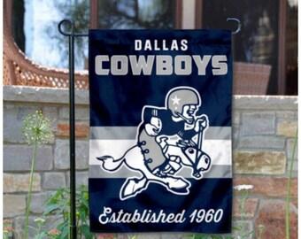 Dallas Cowboys retro garden flag