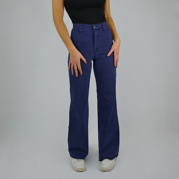 "Dark Blue Dittos Flared Jeans | W23"" L32"""