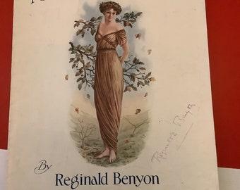 Sheet Music:  MADELINE VALSE, signed by the Composer; Reginald Benson.