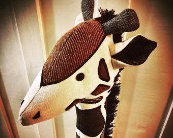 Custom Memory Giraffe Keepsake/Doorstop. Memory bear, personalised keepsake made from a loved ones clothing, baby clothes, pet bedding etc.
