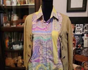 Gorgeous Vintage Paisley Etro Shirt - Women's 48 IT (US 12)