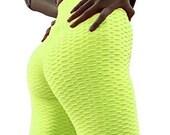 Women 39 s High Waist Yoga Pants TIK Tok Butt Lifting Workout Leggings Tummy Control Leggings