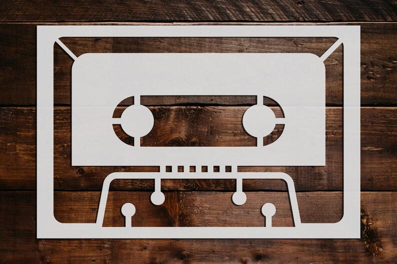 Cassette Tape Stencil Cassette Tape Stencil Reusable Cassette Tape Stencil Art Stencil DIY Craft Stencil Cassette Tape Stencil