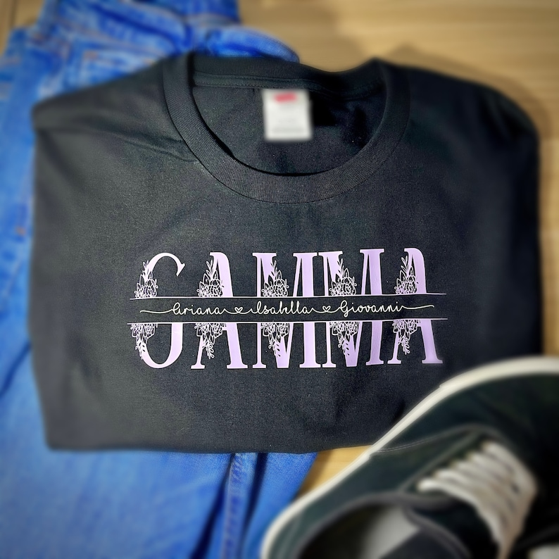 Grandma Shirt Mom Shirt Personalized Shirt Auntie Shirt Grandmother Shirt Kids Names Shirt Mother\u2019s Day Women\u2019s Shirt