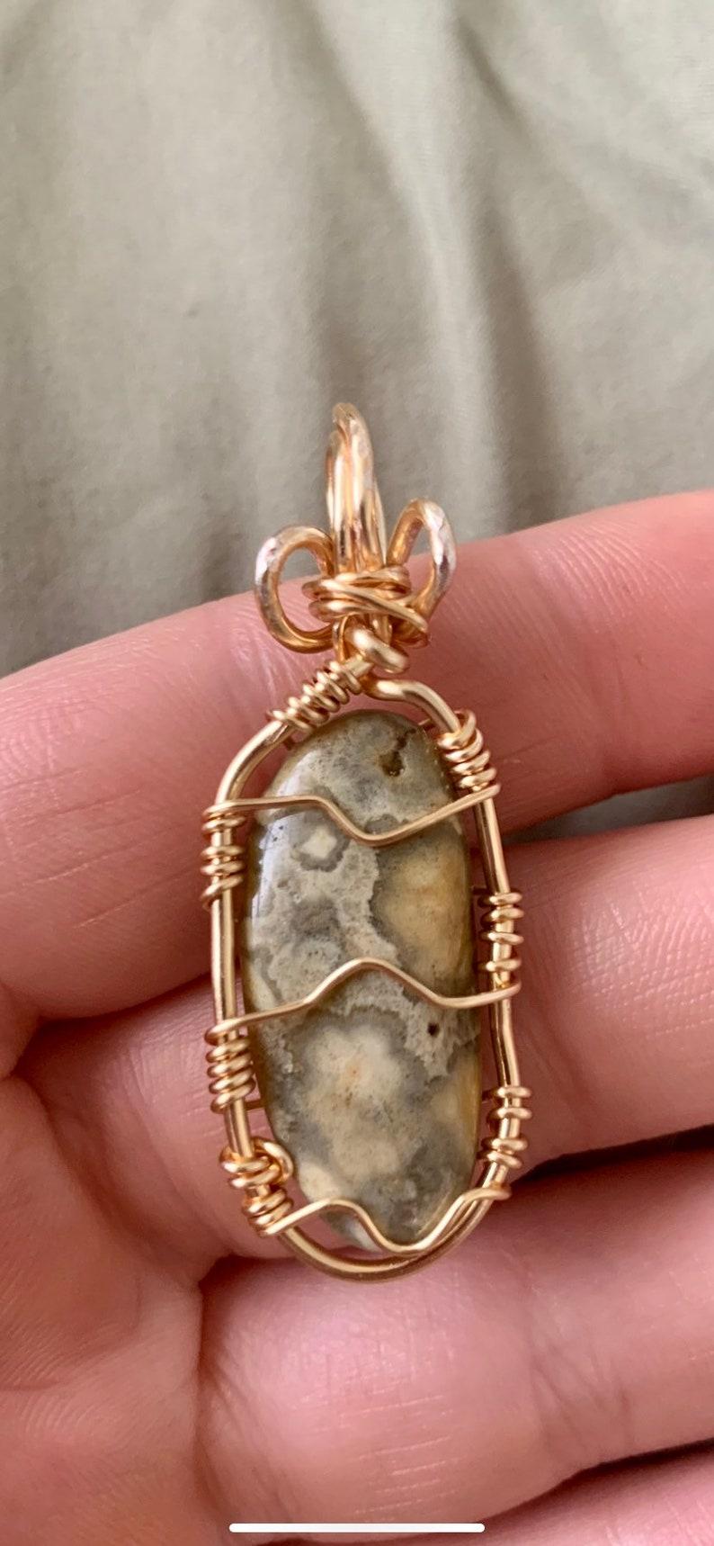 Ocean Jasper Crystal Pendant