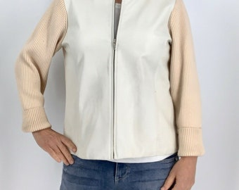 M Vintage 70s  80s Pendelton Basica Wool Zip Up Bomber Style Jacket