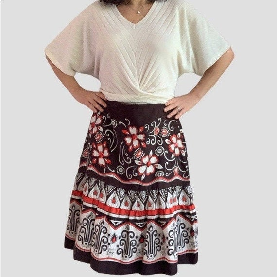 Neiman Marcus silk circle skirt with sequins