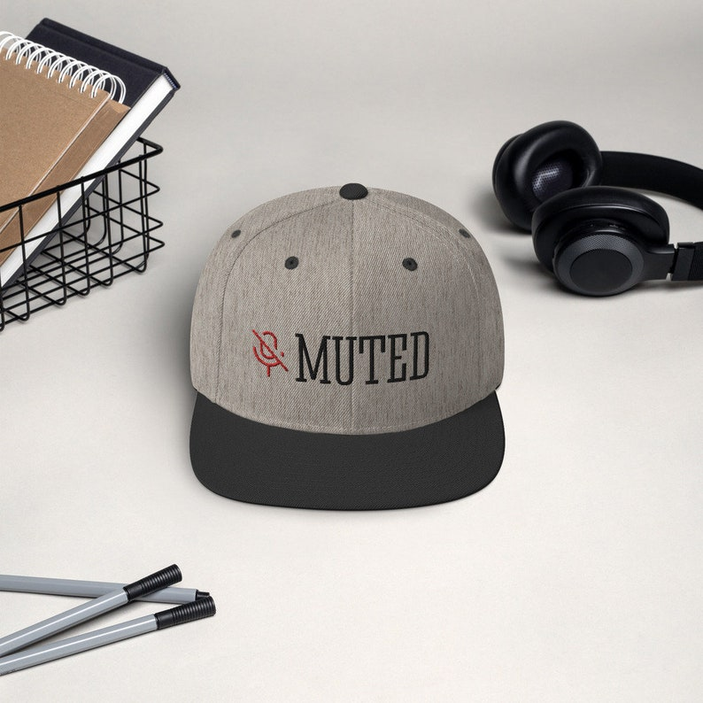 You/'re on Mute work from home Snapback Hat Muted Fun Design Trendy Summer Cap Unisex Snapback Cap Embroidered Hat Gift For Him
