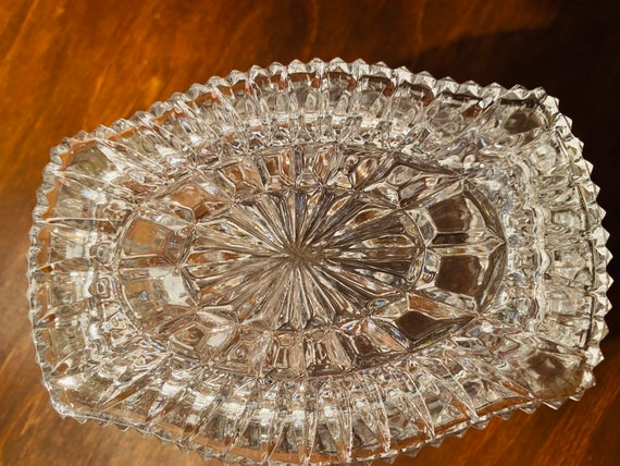 Valentine/'s day Gift Vintage Crystal Ring Dish for your Vanity of  Bed Side Table Jewelry Storage Romantic Gift Trinket dish