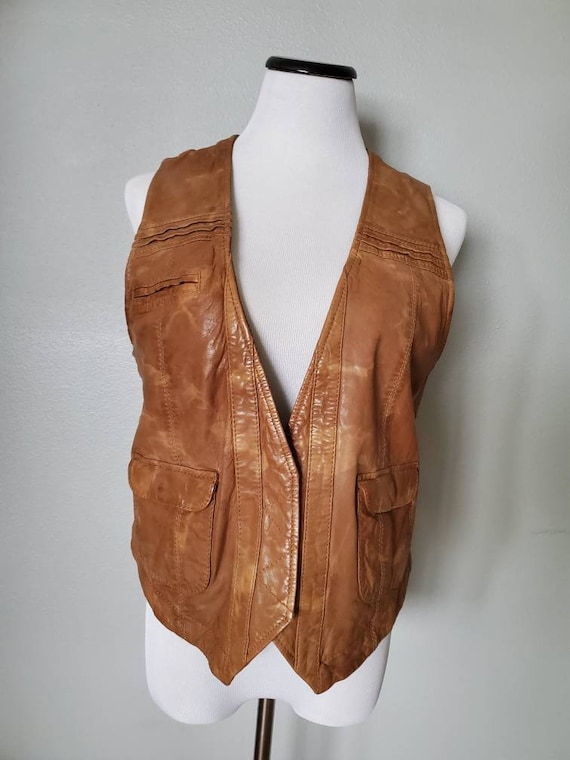Genuine French Connection Leather Vest