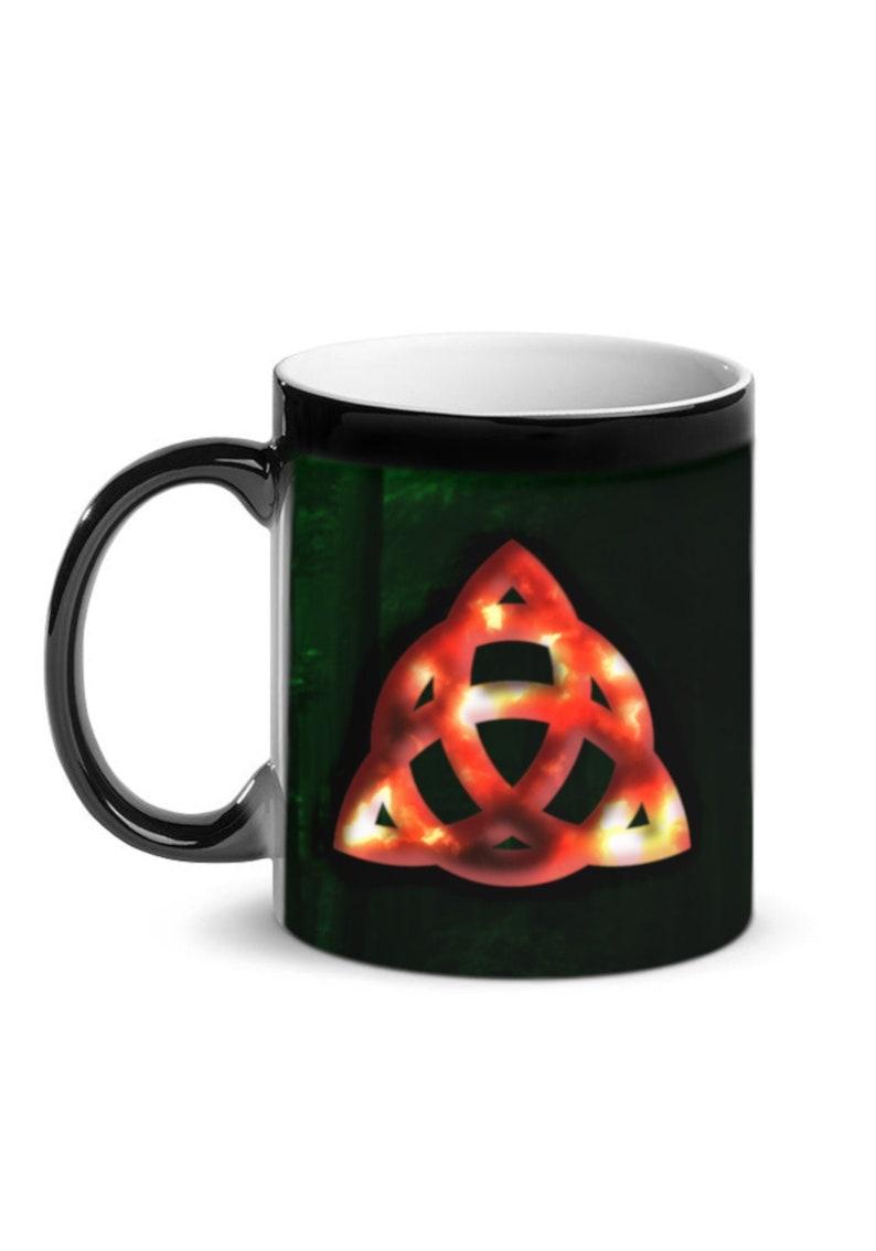 Celtic Triquetra Knot Mug Celtic Knot Flame 11oz Coffee/Tea image 0