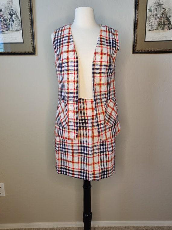 Groovy Deadstock 1970s Skirt and Vest Set