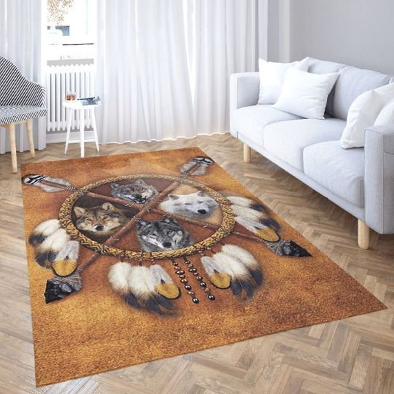 Wolf Rug 3D Full Printing Rug 3d for house