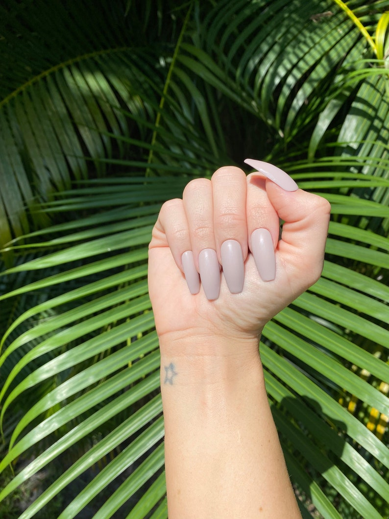 The Perfect Nude Nail Nude Nails Greige Nails Neutral image 0