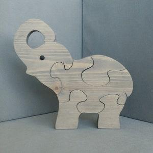 Indian Elephant Wood Puzzle Etsy
