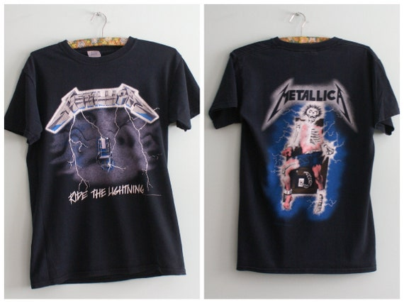 Metallica Unique T-shirt Ride the Lightning, Rare