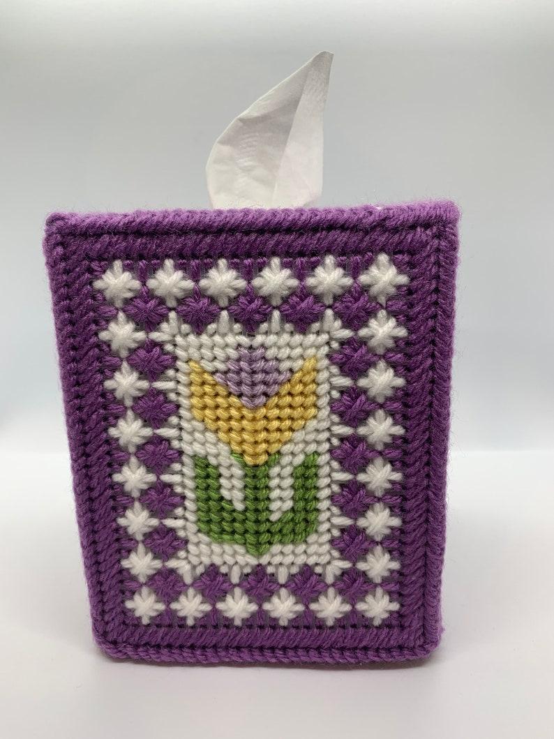 Yellow Tulip Tissue Box Cover