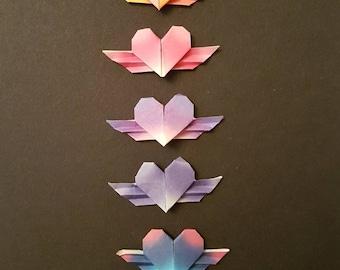 Origami  heart set