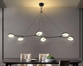 Nordic Minimalist 3,6 Heads Long Arm Chandelier LED Pendant Lights Fixture for Christmas Gift, Living Room, Dinning Room, Interior Design