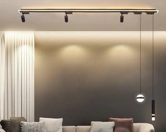 Modern Minimalist Acrylic Chandelier With Spotlight LED Ceiling Lights Fixture Christmas Gift, Living Room, Dinning Room, Interior Design