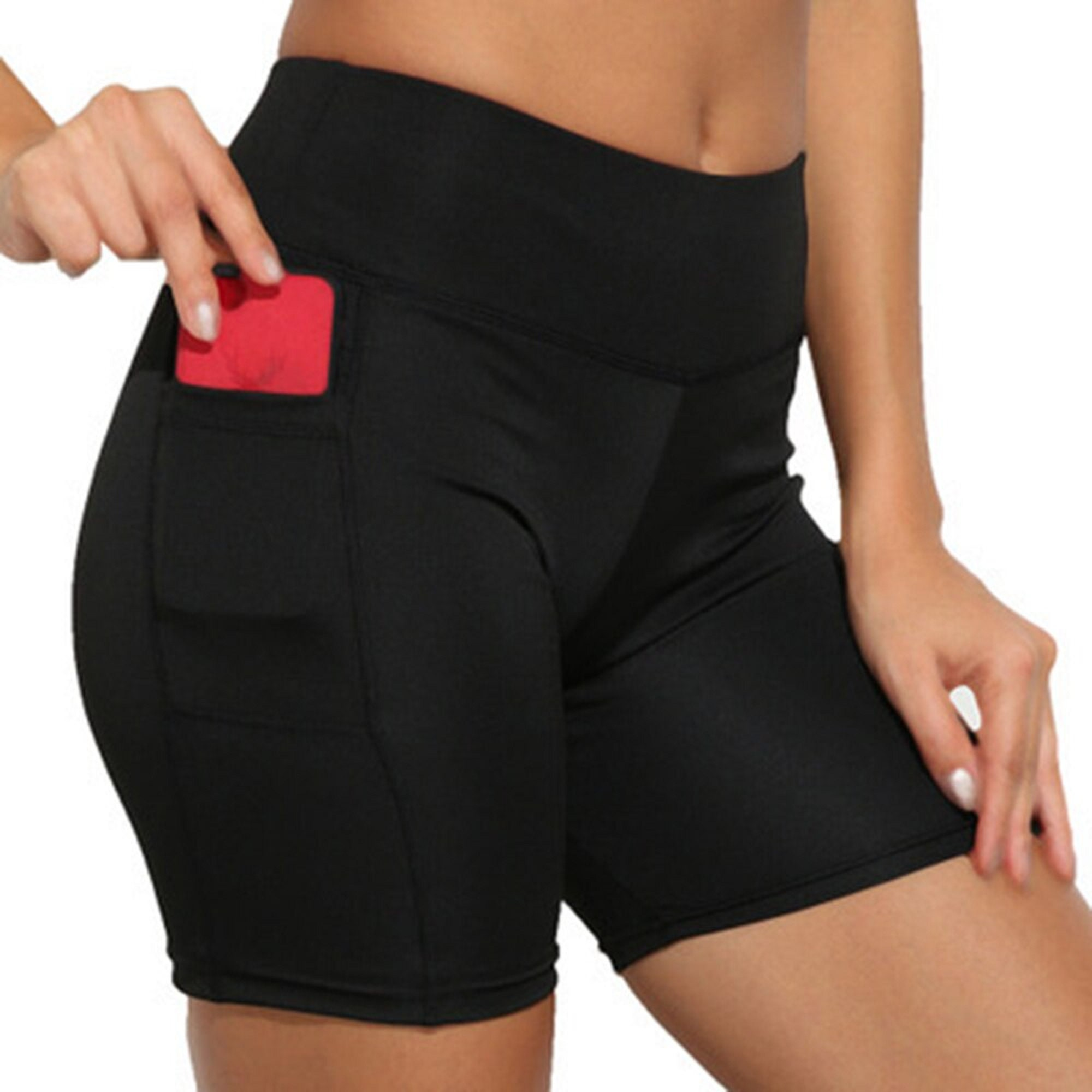Women's shorts High Waist Workout Yoga Shorts With Pockets Fitness Sportswear Scrunch Butt Yoga Running Shorts Gym Leggings