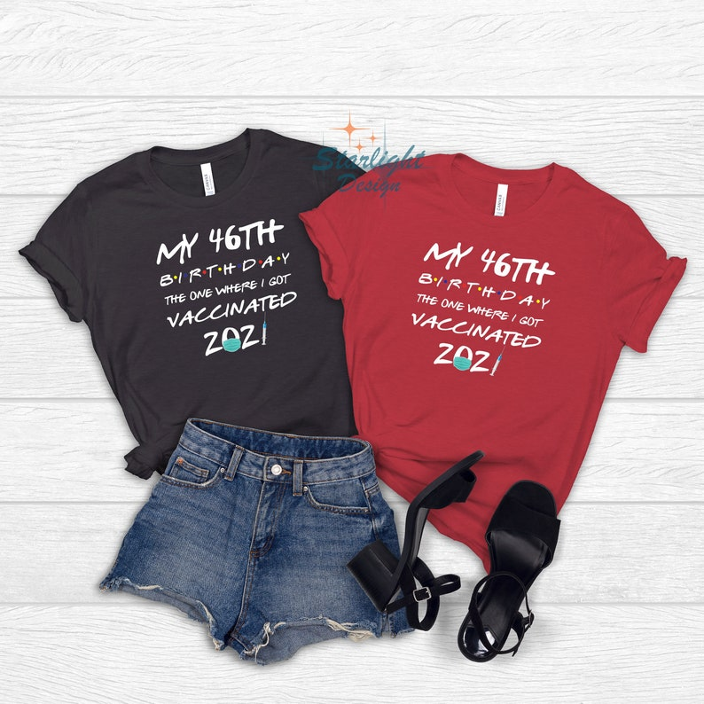 Gearhuman – Vaccinated 2021 T-Shirt Vaccinate Shirt Vaccinated Tee Pro  –  Tshirt